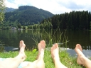Badespass am Schwarzsee