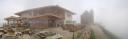 Dichter Nebel am Gipfel der Hohen Salve
