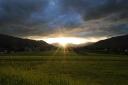 Sonnenuntergang in Itter - mit Gewitterstimmung