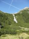 Wasserfall bei der Abfahrt vom Pfitscher Joch