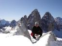Am Gipfel des Paternkofels