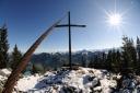 Gipfelkreuz am kleinen Pölven