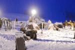 Starker Schneefall in der Früh beim Aufstehen