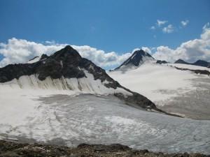 Ausblick Gletscherwelt Abstieg Saykogel