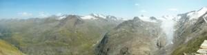 Ausblick von Ramolhaus auf div. Gurgler Gletscher