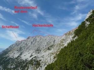 Hier die Übersicht: 02:30 zum Scheffauer 03:00 Hackenköpfe 01:20 Abstieg zum Jagerwirt