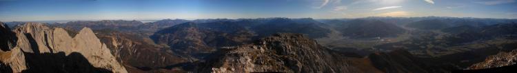 Panorama von der Maukspitze
