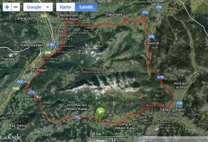 Google Earth - Runde um den Wilden Kaiser