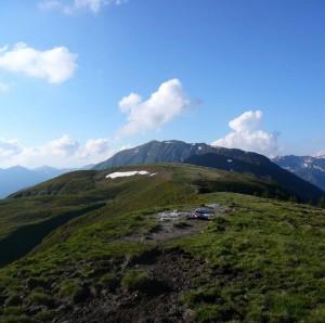 Blick vom Lodron aus Richtung Steinbergstein