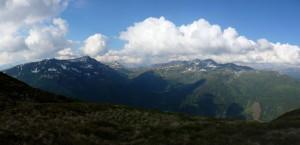 Blick aufs Salzachjoch, Kröndlhorn, Tristkopf, Schafsiedel, Salzachgeier
