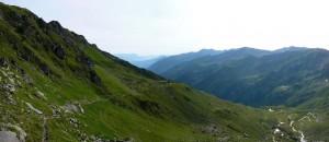 Westhang mit Kaisergebirge im Hintergrund