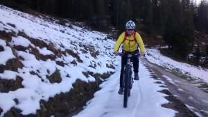 Radeln auf Schnee