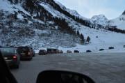 Parkplatzsuche bei den Gletscherbahnen Stubai