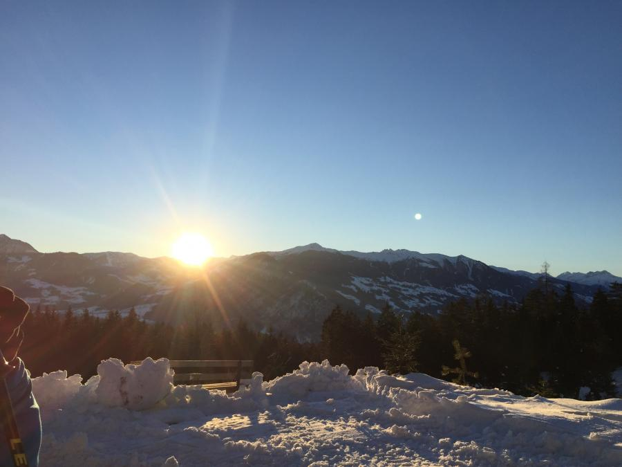 Sonnenaufgang am Kellerjoch
