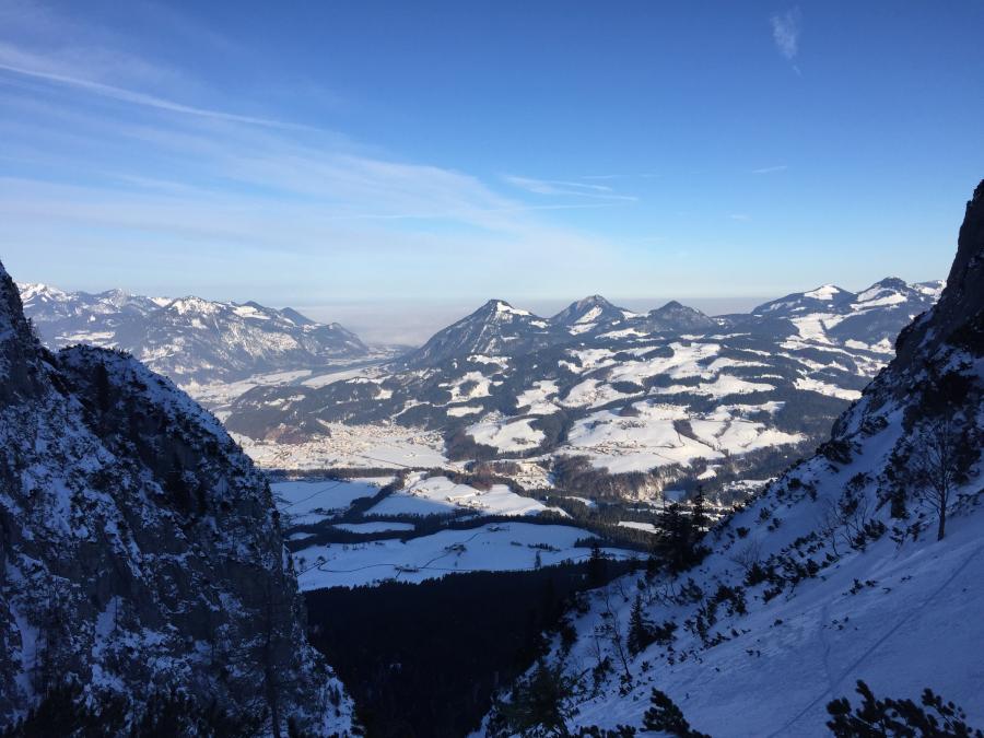 Tiefblick Egersgrinn - Blickrichtung Bayern