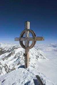 Gipfelkreuz am Hinteren Seelenkogel