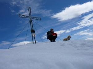 geschafft .... das gemeinsame Gipfelfoto