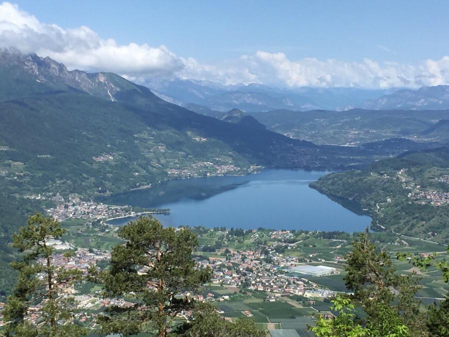 Tiefblick zum Lago di Caldonazzo - Kaiserjägerweg