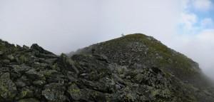 Ankunft am Gipfel