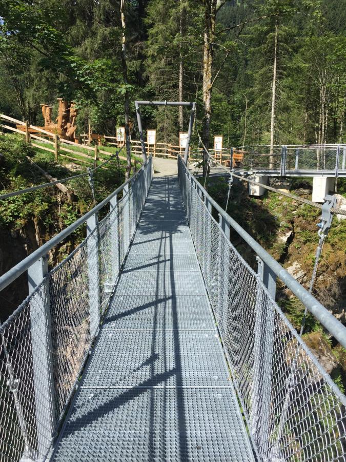 Hängebrücke im unteren Grund / Aschau