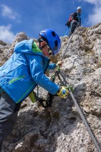 Emilian im Klettersteig