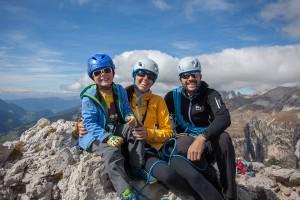 Am höchsten Punkt der Kleinen Cirspitze