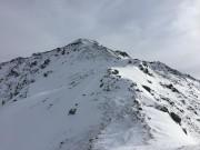 wenig Schnee am Grat