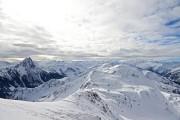 Skitour Brechhorn - Blick ins Windau und Spertental