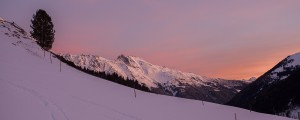 Sonnenaufgang bei Föhnstimmung