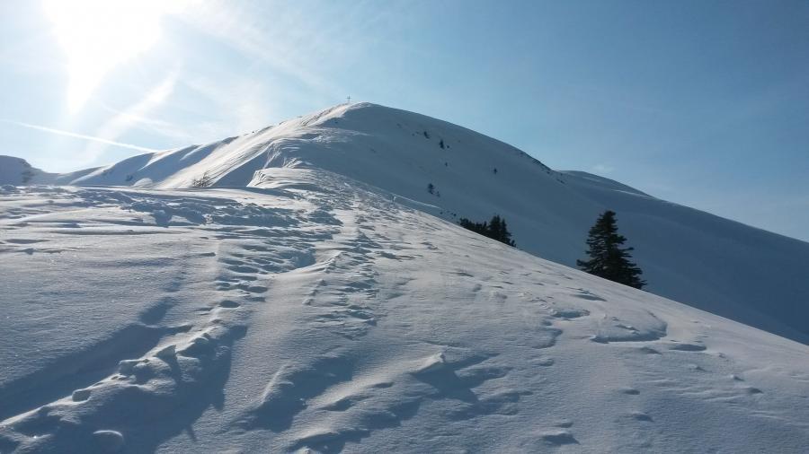 Die letzten Meter zum Gipfel ...