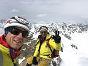Am Gipfel der Dreiländerspitze
