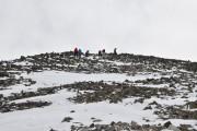 Das Gipfelfeld - mit Steigeisen kein Problem