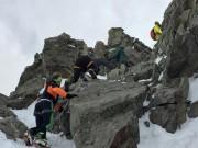 Kletterpassage am Piz Buin