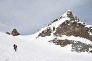 der Gipfelaufbau des Silvrettahorns