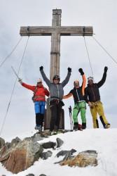 Gipfelfoto auf dem Silvrettahorn