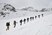 Aufstieg am Gletscher zur Ochsenscharte