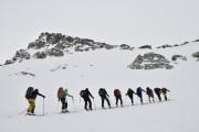 Zustieg Gipfelflanke - Skidepot