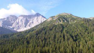 Blick zum Gipfelziel