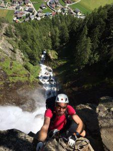50.Michi im Ausstieg vom Klettersteig