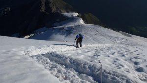 101.steiler Gletscheraufstieg