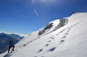170.Michi an Gletscherspalte